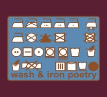 WASH AND IRON POETRY PICTOGRAMS by SofiaYoushi