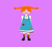 Red Head Girl by piedaydesigns