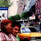 New York Yellow Cabs - Bus Stop by Martine Carlsen
