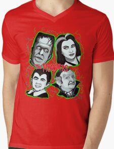 munsters portrait Mens V-Neck T-Shirt