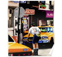 New York Yellow Cabs - Roller Skates Poster
