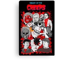 night of the creeps collage Canvas Print