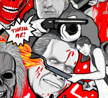night of the creeps collage Sticker