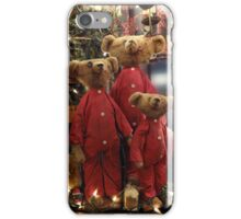Three anxious teddy bears iPhone Case/Skin