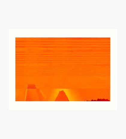 Desert in Orange Art Print