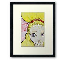 Blonde Girl Watercolor Framed Print