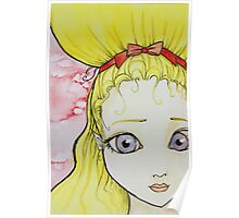 Blonde Girl Watercolor Poster