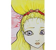 Blonde Girl Watercolor Photographic Print