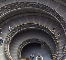 Vatican Stairs by CinB