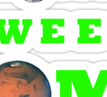 Mars Home Sweet Home  Sticker