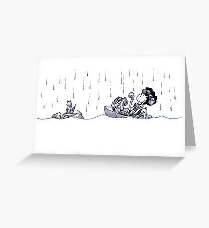 tullulah and the umberella Greeting Card