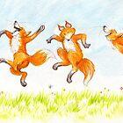 dancing foxes by Liesl Yvette Wilson