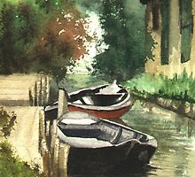 Boats on the River by RainbowDesign
