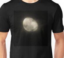 Moon through the mist Unisex T-Shirt