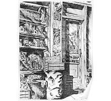 The old Corner Shop Poster
