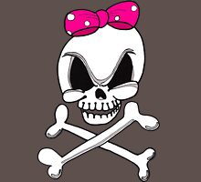 Girls Skull and Crossbones Womens Fitted T-Shirt