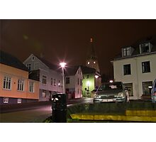 Reykjavik by Night Photographic Print