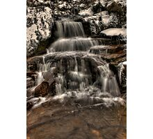 Icy Falls Photographic Print