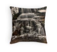 Icy Falls Throw Pillow