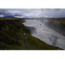 Gullfoss on a cloudy Icelandic day Photographic Print