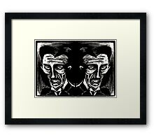 tesla (version 1 double) Framed Print