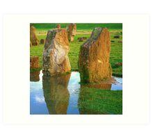 Rock Reflections Art Print