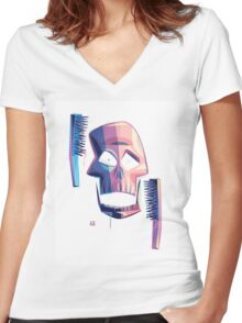 Exfoliate (sans-wordage) Women's Fitted V-Neck T-Shirt