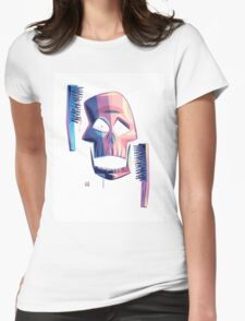 Exfoliate (sans-wordage) Womens Fitted T-Shirt