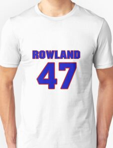 National football player Justin Rowland jersey 47 T-Shirt