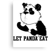 LET PANDA EAT (2) Canvas Print