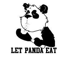 LET PANDA EAT (2) Photographic Print