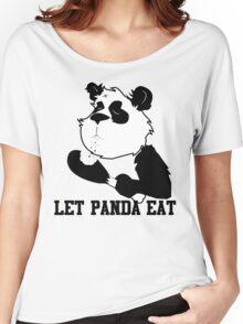 LET PANDA EAT (2) Women's Relaxed Fit T-Shirt
