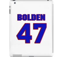 National football player Omar Bolden jersey 47 iPad Case/Skin
