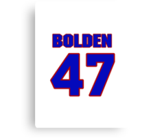 National football player Omar Bolden jersey 47 Canvas Print