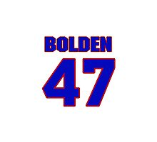 National football player Omar Bolden jersey 47 Photographic Print