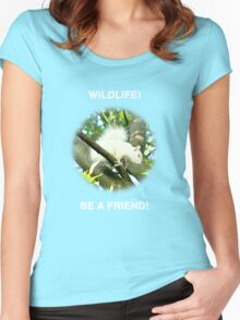 Wildlife Be A Friend Women's Fitted Scoop T-Shirt