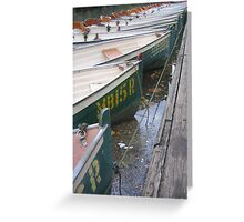 Row Row Row Your Boat Greeting Card