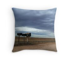 Rural Mailboxes Throw Pillow