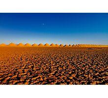 Sunset over Amboy's Salt Flats Photographic Print