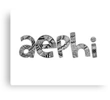 Alpha Phi Epsilon Bubble Letters Metal Print