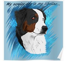 DUNCAN - My Service Dog is My Lifeline Poster