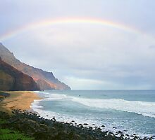 Kalalau Beach Kauai  by kevin smith  skystudiohawaii