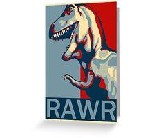 RAWR! American TREX Hope Spoof Greeting Card