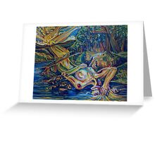 Woman of the Riverbank (Oils)- Greeting Card