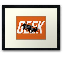 Geek My Ride- Science Friction Framed Print