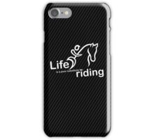 Riding v Life - Sticker iPhone Case/Skin