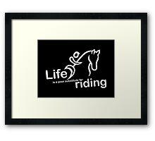 Riding v Life - Sticker Framed Print