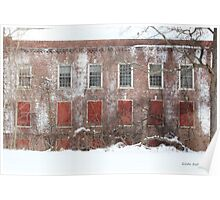 Winter Red and White Blight Poster