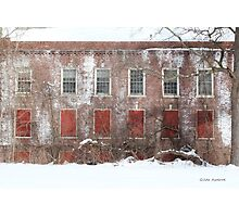 Winter Red and White Blight Photographic Print