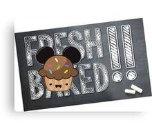 Fresh Baked Muffin on Chalk Metal Print